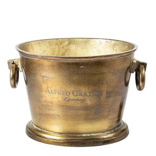Oval Wine Cooler in Brass