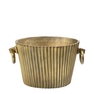 Oval Wine Cooler in dark brass