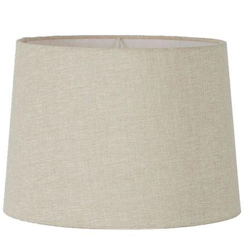 XXXL Drum Lamp Shade (24x22x14 H) - Light Natural Linen - Linen Lamp Shade with E27 Fixture
