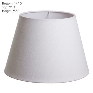 Medium Taper Lamp Shade (14x9x9.5 H) - Textured Ivory - Linen Lamp Shade with B22 Fixture