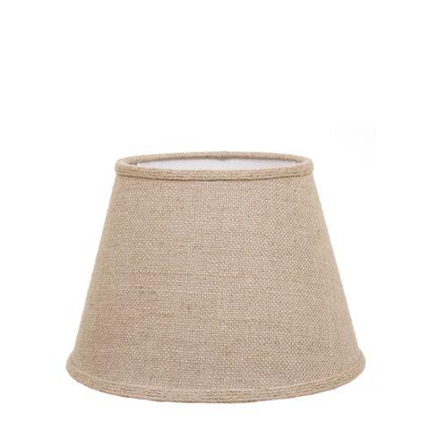 Medium Taper Lamp Shade (14x9x9.5 H) - Jute - Jute Lamp Shade with Collar and B22 Fixture