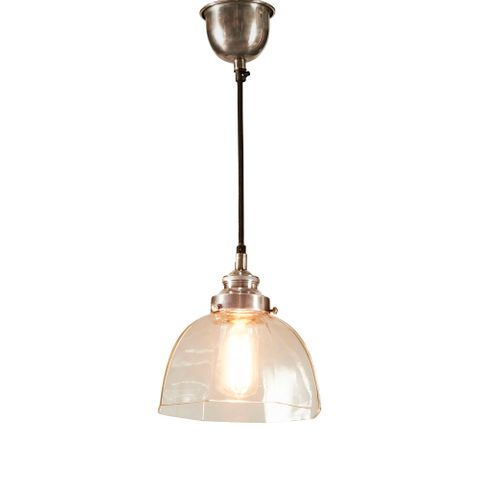 Hobart Hanging Lamp in Antique Silver