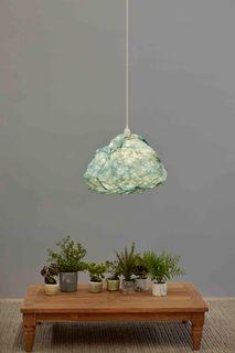 Cumulus - Sky Blue - Free Form Cloud Paper Pendant Light