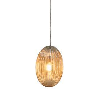 Costolette Medium - Champagne - Medium Ribbed Glass Pod Pendant Light