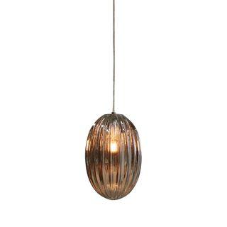 Costolette Small - Smoke Grey - Small Ribbed Glass Pod Pendant Light
