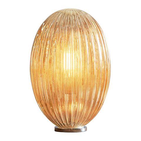 Costolette Medium Table - Champagne - Medium Ribbed Glass Pod Table Lamp