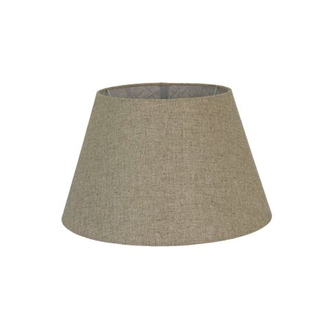 Large Taper Lamp Shade (16x10x10 H) - Dark Natural Linen - Linen Lamp Shade with B22 Fixture