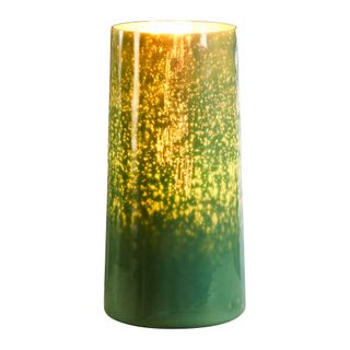 Nouveau - Emerald- Tall Cylinder Art Glass Table Lamp
