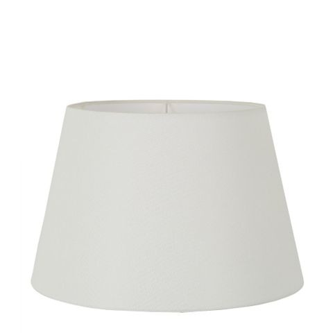 Large Taper Lamp Shade (16x11x10 H) - Textured Ivory - Linen Lamp Shade with E27 Fixture