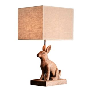 Simon Base Only - Dark Natural - Small Wooden Rabbit Table Lamp Base Only