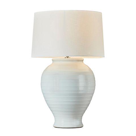 Montauk Ceramic Table Lamp Base White