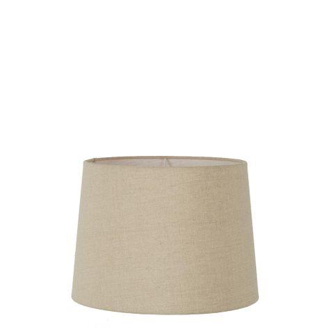 XS Drum Lamp Shade (10x8.5x7 H) - Dark Natural Linen - Linen Lamp Shade with E27 Fixture