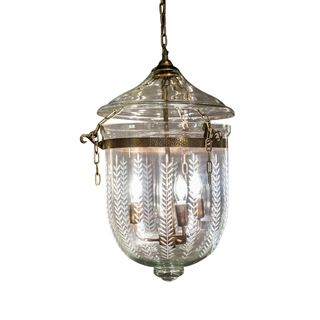 Bell Jar Ceiling Pendant Medium Brass