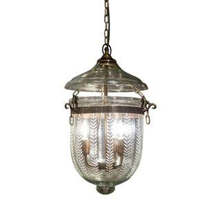 Bell Jar Ceiling Pendant Small Brass