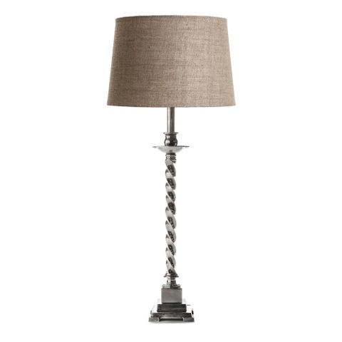 Roxbury Table Lamp Base Antique Silver