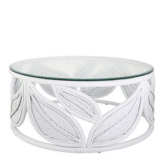 Seville Leaf Table White