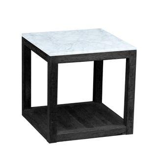Denver Marble Side Table Black