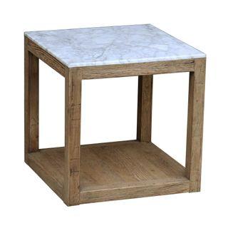 Denver Marble Side Table White