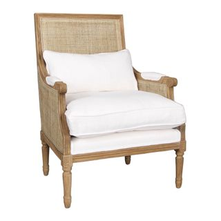 Hicks Caned Armchair White