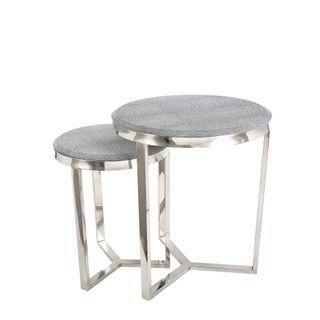 Alor Shagreen Tables Set of 2 Grey