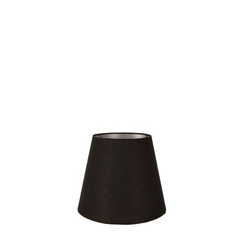 XXXS Taper Lamp Shade (5x3x4.5 H) - Black with Silver Lining - Linen Lamp Shade with Clip Fixture