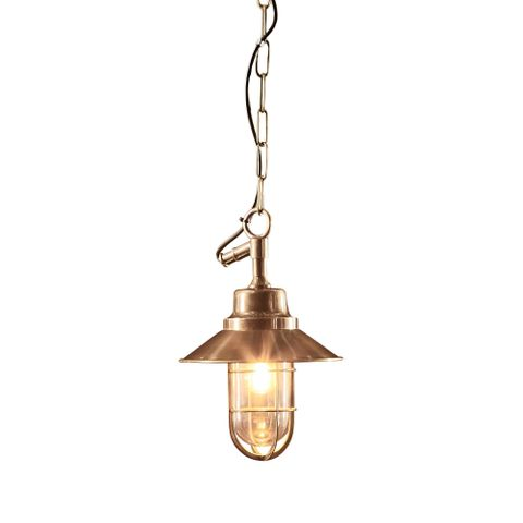 Rutherford Outdoor Hanging Lamp in Brass