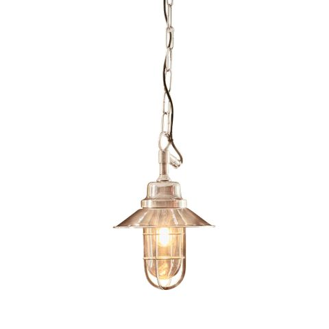 Rutherford Outdoor Hanging Lamp in Silver