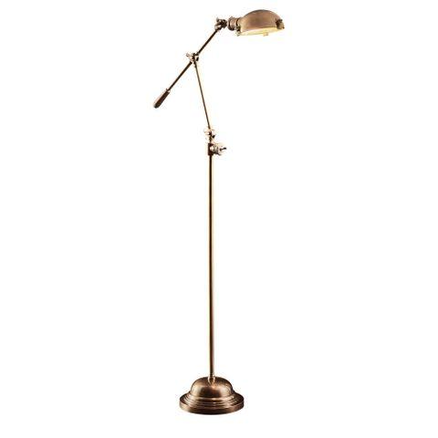 Royce Floor Lamp in Antique Brass