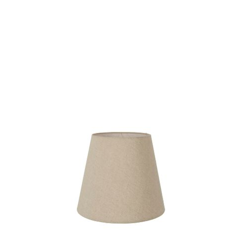 XXXS Taper Lamp Shade (5x3x4.5 H) - Dark Natural Linen - Linen Lamp Shade with Clip Fixture