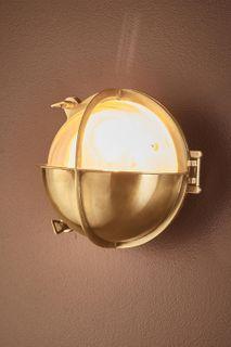 Vienna Outdoor Wall Light in Antique Brass