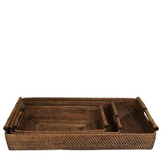 Set 3 Trays Brown