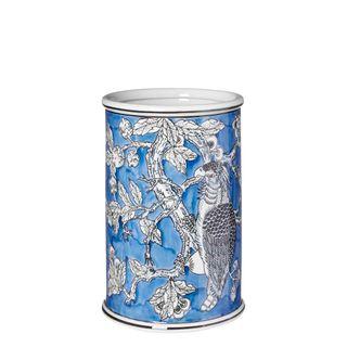 Cockatoo Cylinder Vase