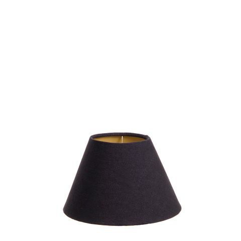 Shade 8 x 4 x 5 Black Linen with Gold Lining