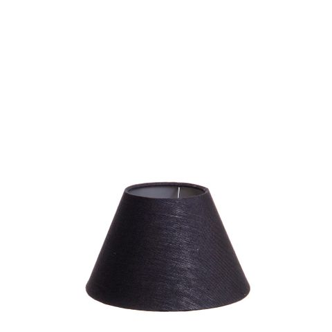 XXS Taper Lamp Shade (8x4x5 H) - Black with Silver Lining - Linen Lamp Shade with B22 Fixture
