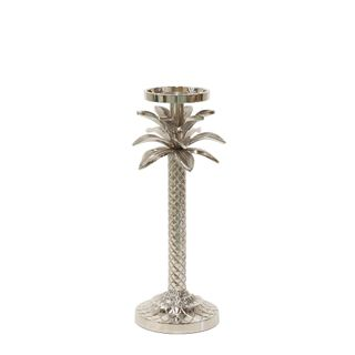 Raffles Palm Candle Stick Silver Small
