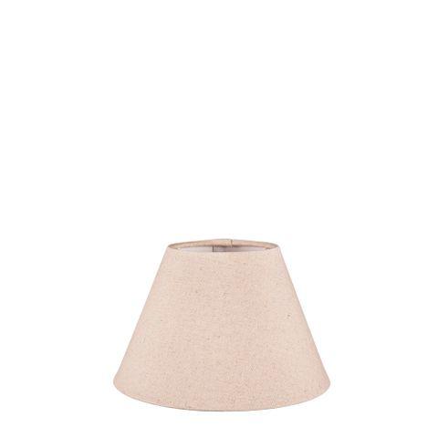XXS Taper Lamp Shade (8x4x5 H) - Dark Natural Linen - Linen Lamp Shade with B22 Fixture