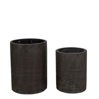 Venda Tall Cylinder Pot Set/2 Grey