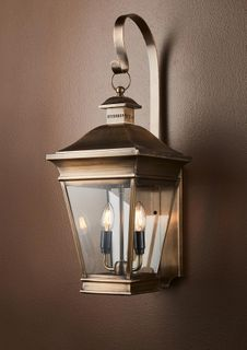 Erikson Outdoor Wall Lamp in Brass