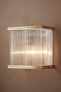Verre Rectangular Wall Light Brass