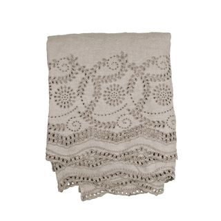 Embroidered Lace Tablecloth / Coverlet I