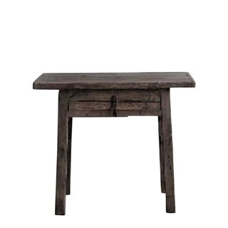 Shanxi Elm 120 Year Antique Wooden Side Table 1