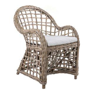 Mauritius Wicker Arm Chair with Cushion