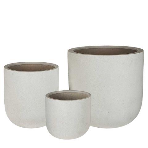 Hoang Planter Set of 3 Cream