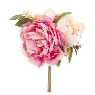Peony Bouquet Mixed 30cm Light Pink