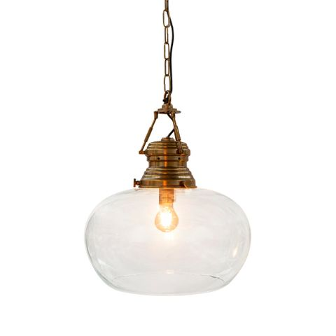 Paddington Hanging Lamp Large Antique Brass