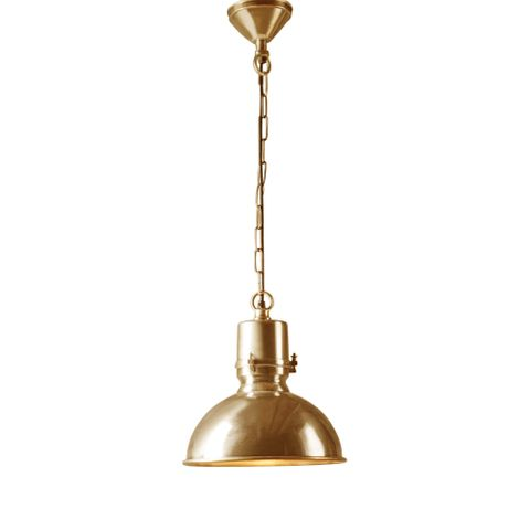 Augusta Large Hanging Lamp in Antique Brass