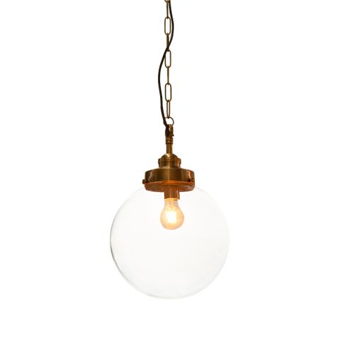 Celeste Medium Hanging Lamp in Antique Brass