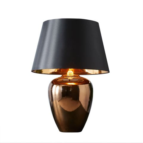 Manhattan Small - Gold - Large Urn Ceramic Table Lamp
