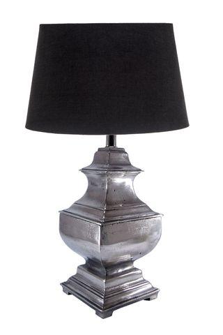 Delphi Table Lamp Base Antique Silver