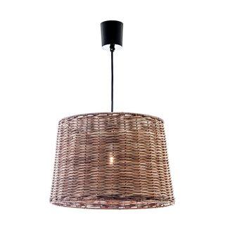 Rattan Round Hanging Lamp Large